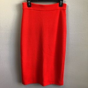 Ann Taylor midi pencil skirt textured knit 4.